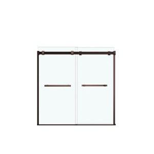 MAAX Duel Tub Door - 59-in x 55.5-in - Bronze
