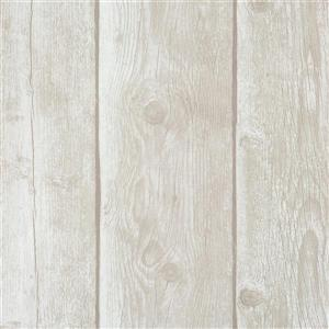 Walls Republic Grey And Brown Stripes Non-Woven Paste The Wall Timber Plank Pattern Wallpaper
