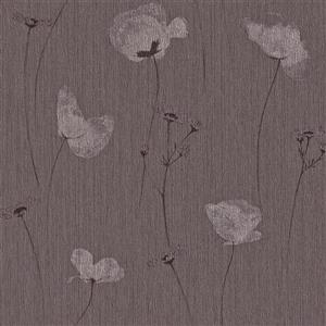 Walls Republic Purple Floral Non-Woven Paste The Wall Floral Perennial Wallpaper