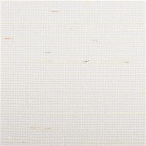 Walls Republic Yellow/White Light Weave Grasscloth Wallpaper 36-in