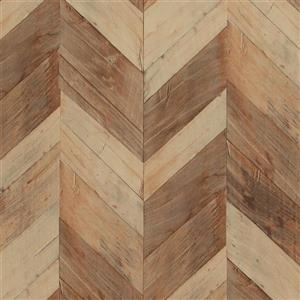 Walls Republic Wood Herrinbone 57 sq ft Brown/Beige Unpasted Wallpaper