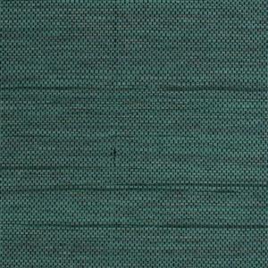 Walls Republic Honeycomb 57sq ft Green and Black Grasscloth Unpasted Wallpaper