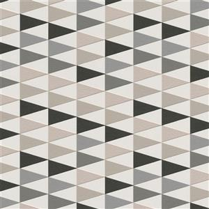 Walls Republic Taupe Modern Geometric Trigonal Non-Woven Unpasted Wallpaper