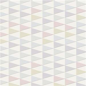 Walls Republic Pink & Purple Modern Geometric Trigonal Non-Woven Unpasted Wallpaper