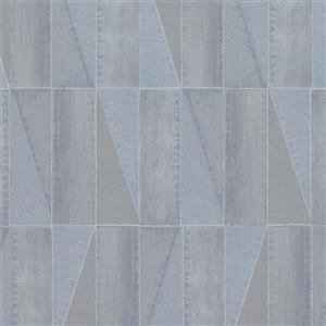 Walls Republic Urban Denim Patch 57 sq ft Light Blue/Grey Unpasted Wallpaper