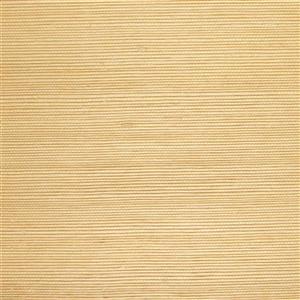 Walls Republic Yellow/Cream Grasscloth Non Woven Paste The Wall Fine Weave Wallpaper