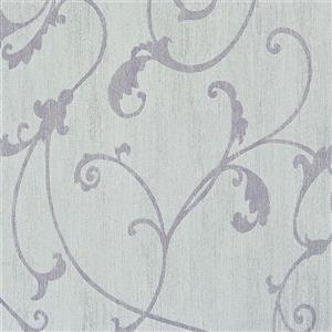 Walls Republic Lilac Damask Non-Woven Ornamental Floral Thistles Unpasted Wallpaper