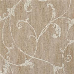 Walls Republic Taupe Damask Non-Woven Ornamental Floral Thistles Unpasted Wallpaper