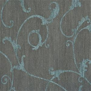 Walls Republic Charcoal Damask Non-Woven Ornamental Floral Thistles Unpasted Wallpaper