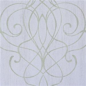 Walls Republic Romantic Lilac Damask Embroid Wallpaper