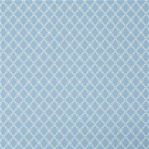 Walls Republic Secret Geometric 57 sq ft Blue Unpasted Wallpaper