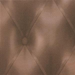Walls Republic Brown Abstract Non-Woven Paste The Wall Faux Tufted Leather Wallpaper