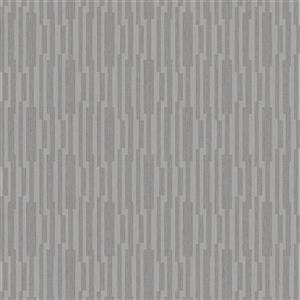 Walls Republic Silver Modern Striped Geometric Non-Woven Wallpaper