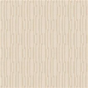 Walls Republic Light Gold Modern Striped Geometric Non-Woven Unpasted Wallpaper