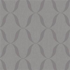 Walls Republic Silver Modern Striped Geometric Non-Woven Unpasted Wallpaper