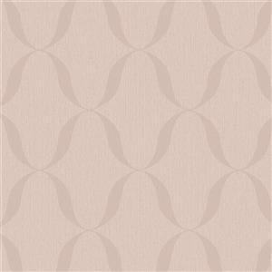 Walls Republic Tan Modern Striped Geometric Non-Woven Unpasted Wallpaper