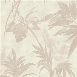 Walls Republic Cream Modern Floral Metallic Non-Woven Unpasted Wallpaper