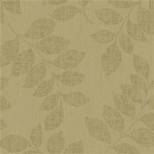 Walls Republic Golden Brown Modern Leaf Branches Non-Woven Unpasted Wallpaper