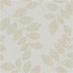 Walls Republic Silver Modern Leaf Branches Non-Woven Unpasted Wallpaper