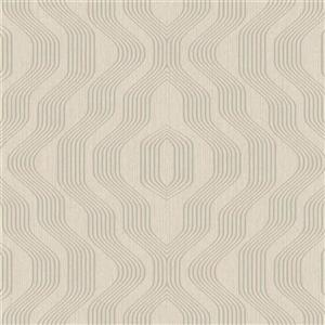 Walls Republic Taupe Geometric Non-Woven Paste The Wall Modern Swerve Wallpaper