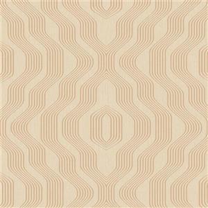 Walls Republic Tan Geometric Non-Woven Paste The Wall Modern Swerve Wallpaper