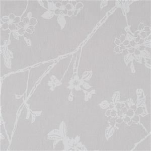 Walls Republic Cool Grey Floral Non-Woven Paste The Wall Flora Floral Blossom Wallpaper
