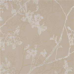 Walls Republic Gold Floral Non-Woven Paste The Wall Enchanted Floral Blossom Wallpaper