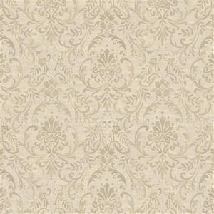 Walls Republic Brown/Brown Damask Floral Ornamental Wallpaper