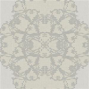 Walls Republic Silver Geometric Luxury Medallion Wallpaper