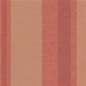 Walls Republic Maroon Art Deco Geometric Striped Non-Woven Wallpaper