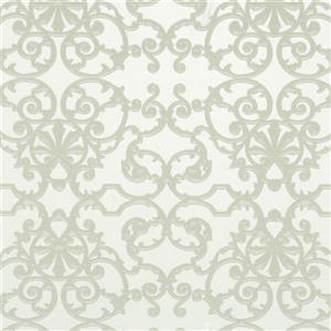 Walls Republic Metallic Floral Non-Woven Ornate Pattern Unpasted Wallpaper