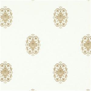 Walls Republic White/Beige Classic Pattern Wallpaper