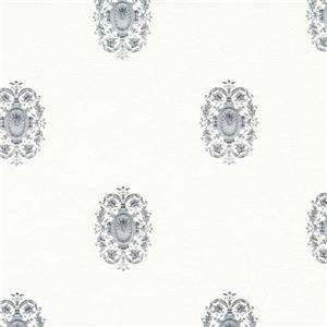 Walls Republic White/Silver Classic Pattern Wallpaper