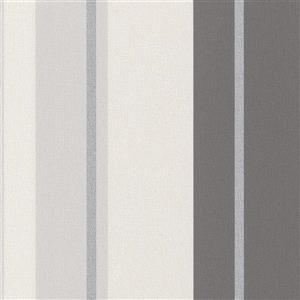 Walls Republic Gray Assorted Stripe Non-Woven Wallpaper