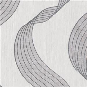 Walls Republic White Ribbons Wallpaper