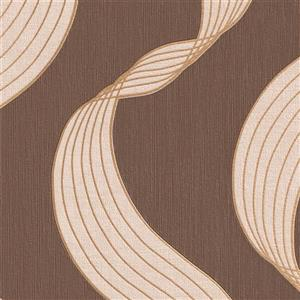 Walls Republic Brown Ribbons Wallpaper