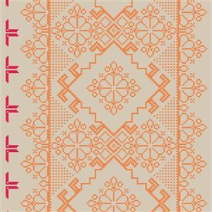 Walls Republic Orange Homey Pattern Unpasted Wallpaper