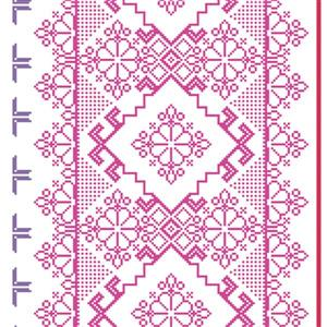 Walls Republic Pink and Purple Homey Pattern Unpasted Wallpaper