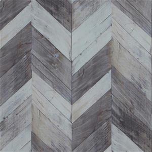 Walls Republic Wood Herrinbone 57 sq ft Light Dark Grey/Light Blue Unpasted Wallpaper