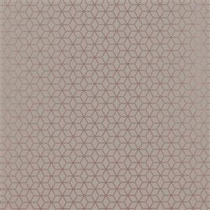 Walls Republic Taupe/Gold Grasscloth Non-Woven Paste The Wall Geometric Contemporary Ring Link Wallpaper