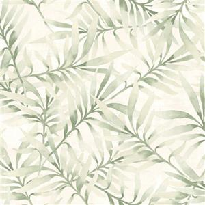 Walls Republic Green Floral Non-Woven Paste The Wall Tropical Leaf Branch Wallpaper