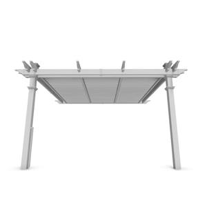 New England Arbors White Pvc Elysium Attached Louvered