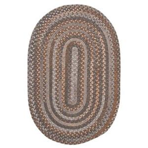 Colonial Mills Oak Harbour 5-ft x 8-ft Graphite Oval Area Rug