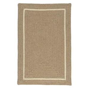 Colonial Mills Shear Natural 4-ft Square Muslin Area Rug