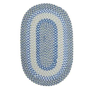 Colonial Mills Blokburst 7-ft x 9-ft Blueberry Pie Oval Area Rug