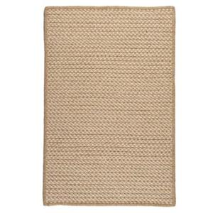 Colonial Mills Natural Wool Houndstooth 4-ft Square Tea Area Rug