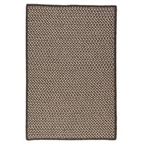 Colonial Mills Natural Wool Houndstooth 4-ft Square Espresso Area Rug