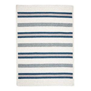 Colonial Mills Allure 2-ft x 12-ft Polo Blue Runner