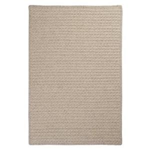 Colonial Mills Natural Wool Houndstooth 8-ft Square Cream Area Rug