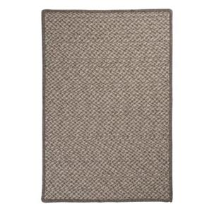 Colonial Mills Natural Wool Houndstooth 8-ft Square Latte Area Rug